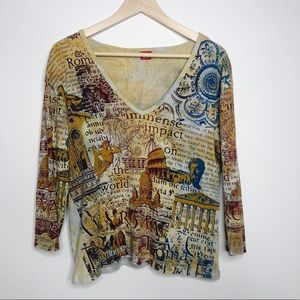 Glima USA made XL Rome Art Nude Angels V NecK EUC